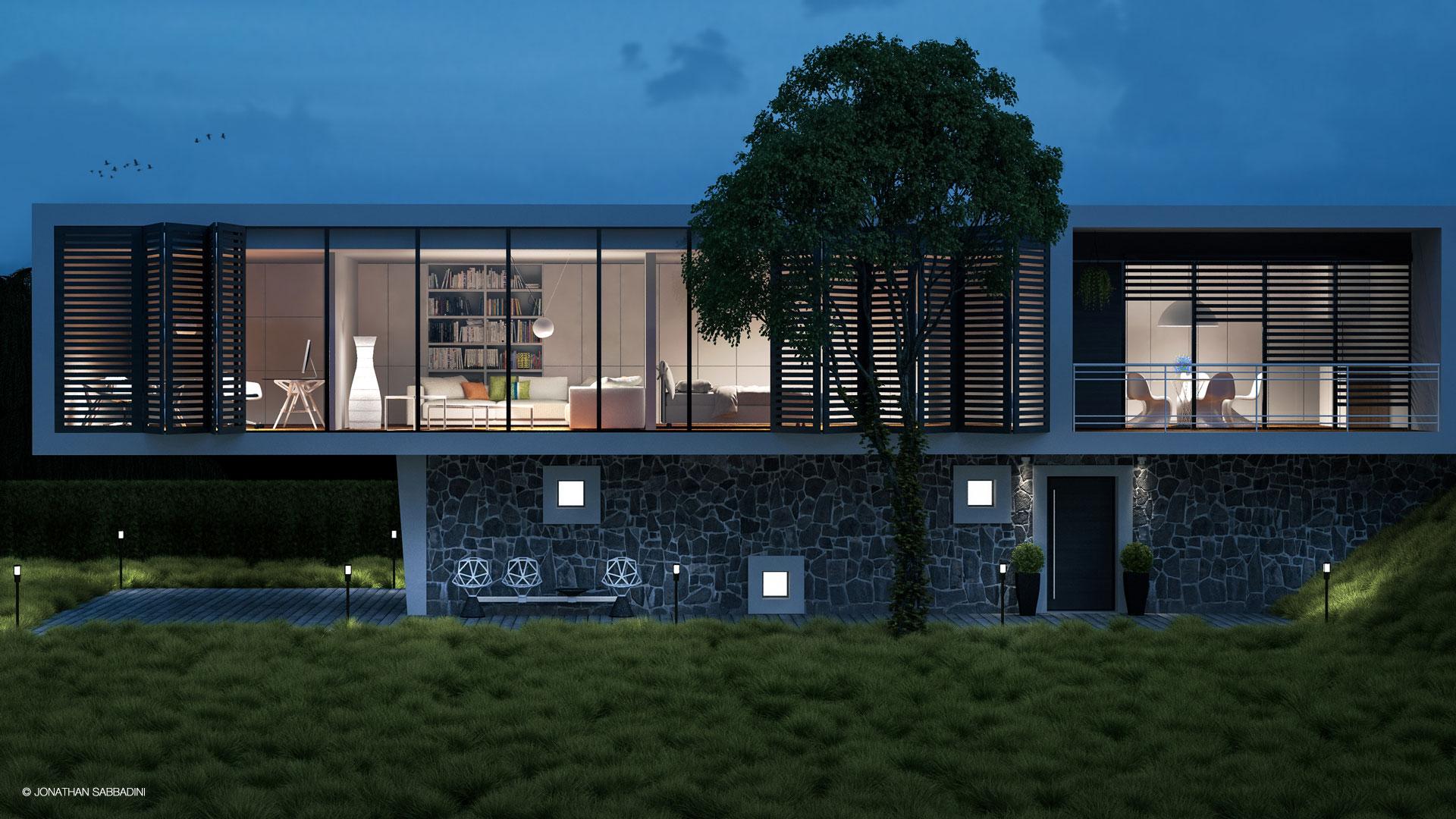 3d render jonathan sabbadini grafico 3d con sede in for Rendering giardino