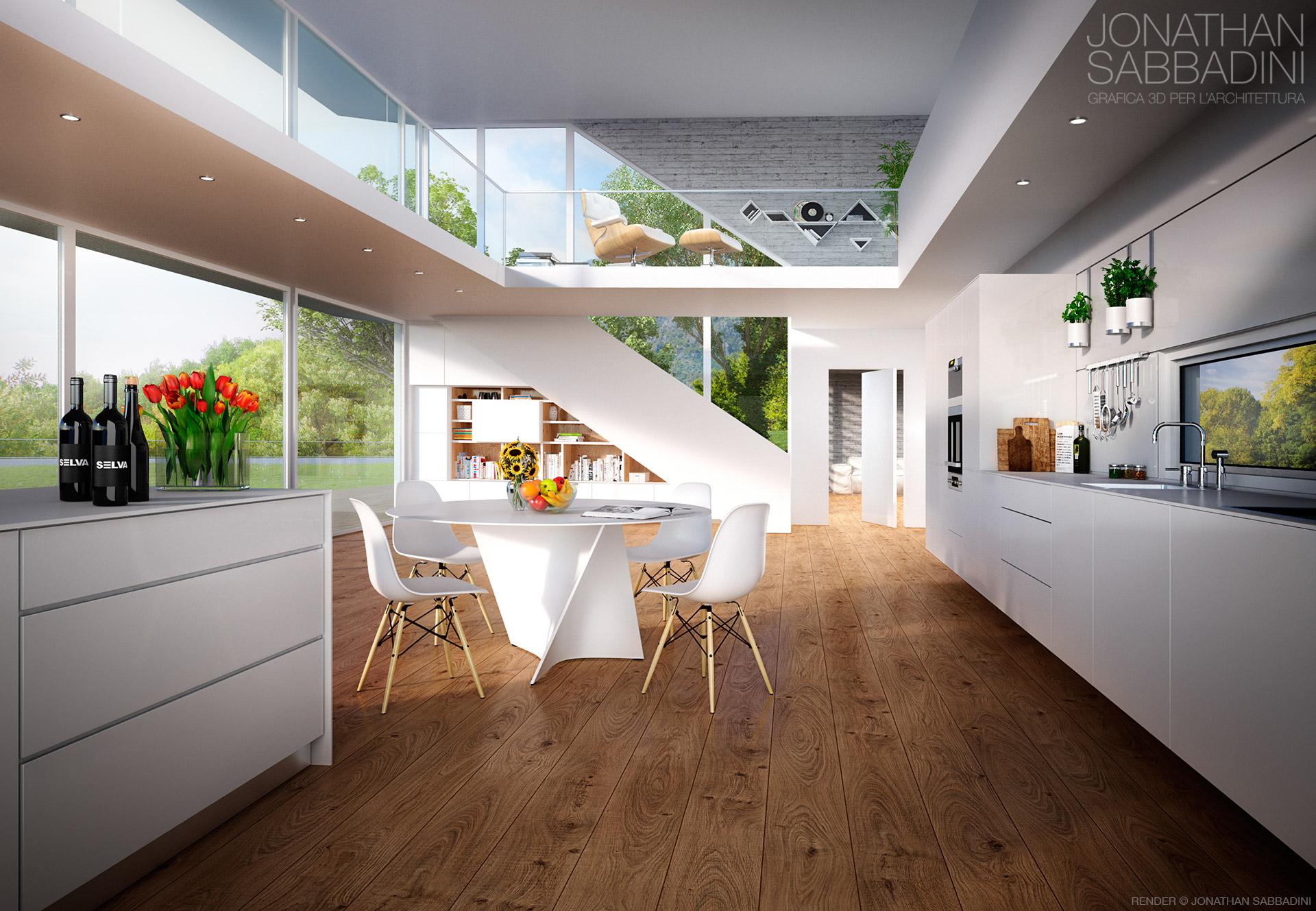 Arredamento pavimenti serramenti render pubblicitario for Interni appartamenti moderni