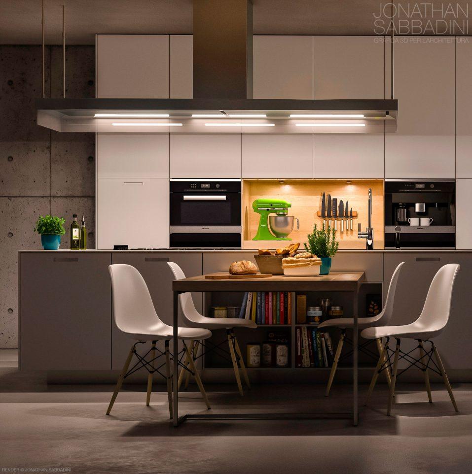 Cucina Poliform | 3D Render Jonathan Sabbadini